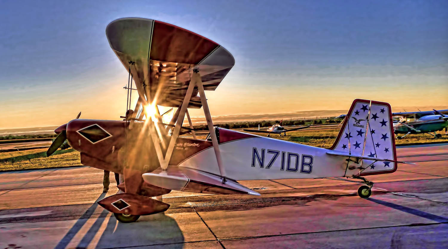 BI PLANE AT SUNRISE