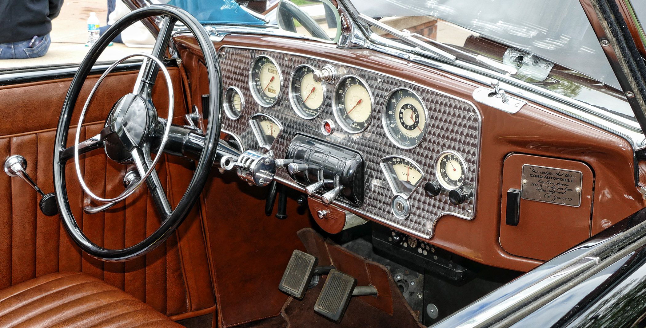 1936-CORD-DASH.-NOTE-108-MPH-SPEED-CERTIFICATION